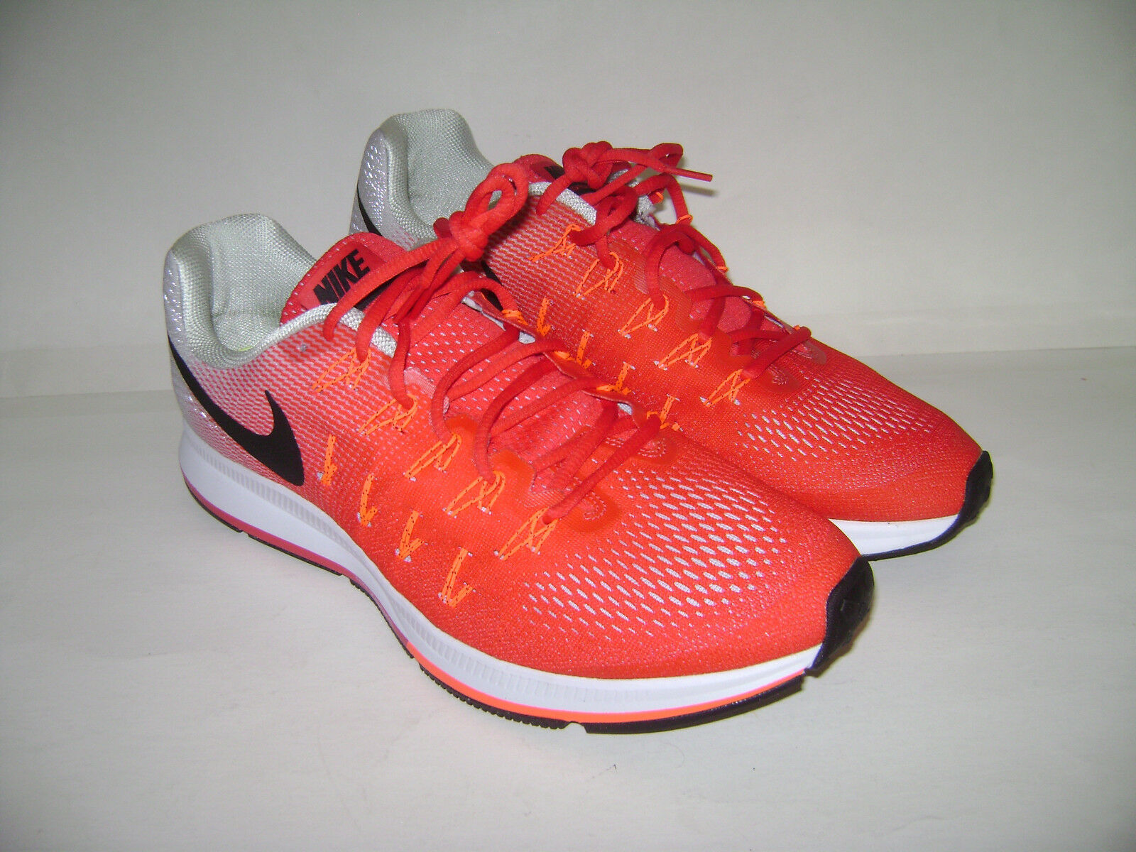NEW NIKE AIR ZOOM PEGASUS 33 RUNNING SHOES ACTION RED SNEAKERS Sz 14 831352-600
