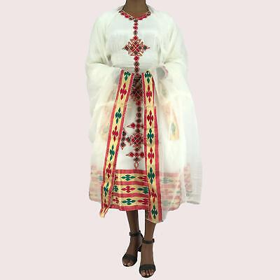 Abito Etiope, Tradizionale Habesa Vestiti, Ricamato, Corto-mostra Il Titolo Originale Top Angurie