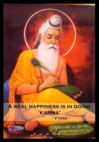 Vyasa A real Happiness Edison INSPIRATIONAL MOTIVATIONAL QUOTE POSTER #33 A3