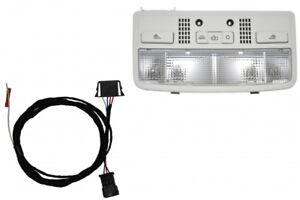 VW W8 Luz Interior Gris Incl. Cable de Conexión para Seat Ibiza 6L ...