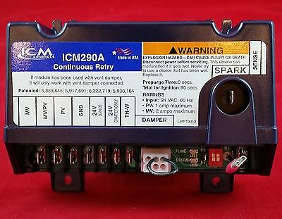 ICM290A ICM Intermittent Pilot Ignition Control Board Box for Honeywell  S8610U 800442012681 | eBay