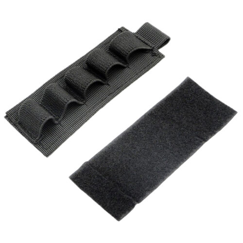 2pcs Airsoft Tactical Hunting 5 Round Shotgun Shell 12 Gauge Ammo Carrier Pouch