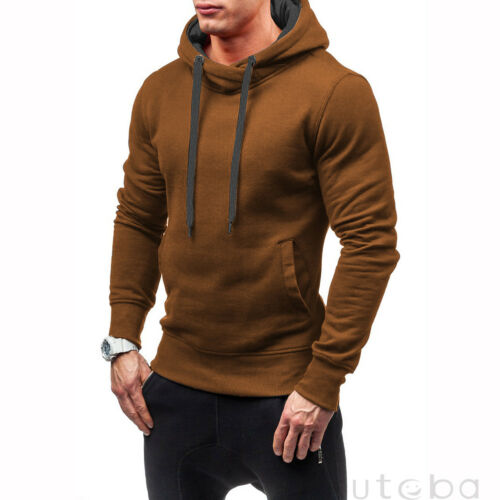 Winter Men/'s Hoodie Warm Hooded Sweatshirt Coat Jacket Outwear Sweater Slim Tops