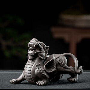handmade artware yixing zisha brave troops wealth bring tea pet Chinese ornament