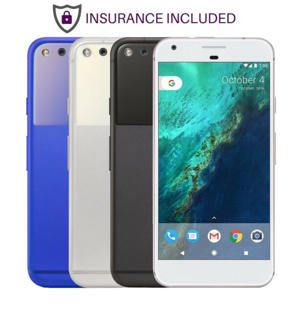 Google Pixel - GSM Unlocked - 32GB 128GB  Black Silver Blue Insurance Included A