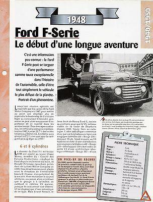 Voiture Ford F-sÉrie Fiche Technique Auto 1948 Collection Car Facile Da Usare