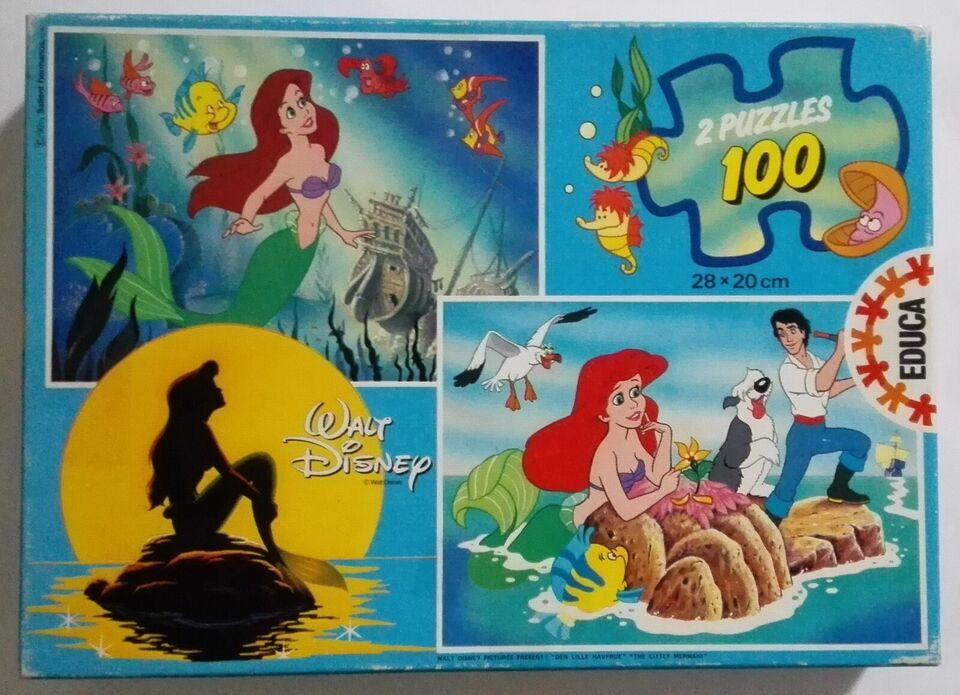 Den lille havfrue (Disney), 100 brikker Educa, puslespil