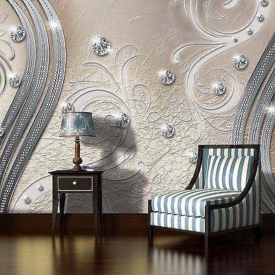 Fototapete Rosa Diamant Ornamente Abstrakt Schlafzimmer Tapete Wandtapete 83