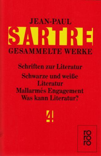 1 von 1 - *- SARTRE gesammelte WERKE 4 - Schriften zur LITERATUR/Schwarze und weiße....tb