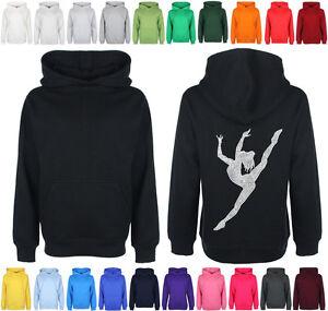 Girls-Personalised-Diamante-Rhinestone-Dance-Gymnastics-hoodie-avb-Bling