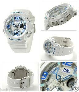 BGA-190-7B-White-Casio-Baby-G-Ladies-Watches-Analog-Digital-Neon-Resin-New