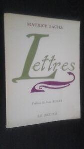 Maurice Sachs Letras Preface J. Alley 1968 El Aries N º 1490/1 Retrato