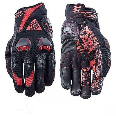 guanti five stunt evo black//red xl