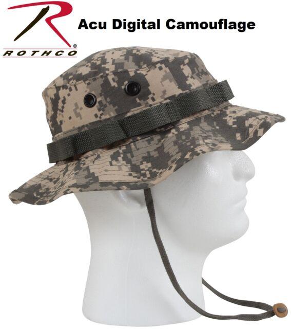 4ac52385f62 Acu Digital Camouflage Army Military Tactical Wide Brim Bucket Boonie Hat  5891