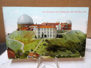 1909-Postcard-The-Lick-Telescope-Observatory-Hamilton-California