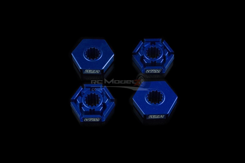 Area RC X-Maxx Hex Hub   Wheel Extenders - bluee Upgrade Part