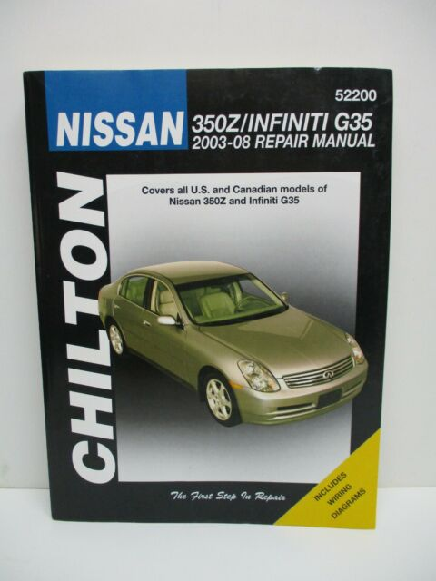 Chilton Nissan 350z  Infiniti 2003