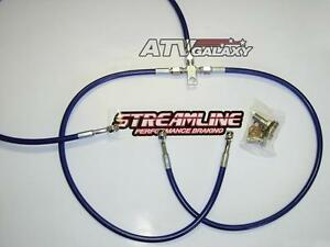 STREAMLINE FRONT BRAKE LINES LINE KIT ATV CLEAR YAMAHA RAPTOR 660 700 2001+