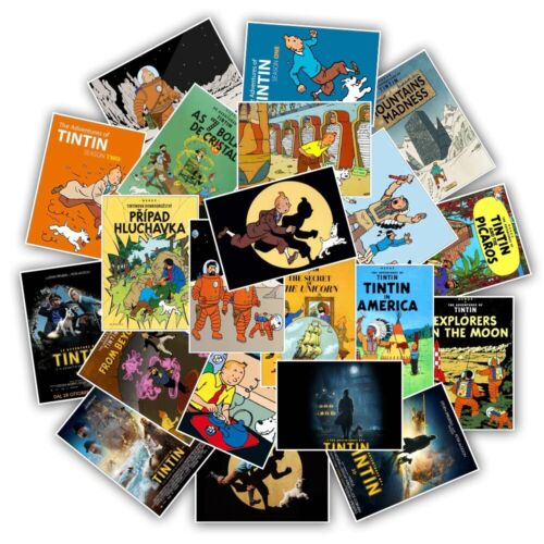 The Adventures of Tintin Stickers 25 pcsx for Skateboard Motorcycle Laptop Door