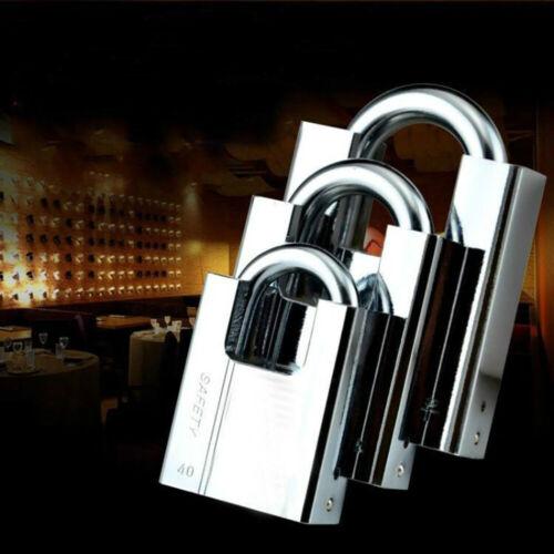 Keyed Padlock Waterproof Anti Rust Padlock Anti-Theft Lock Pry Window Door Lock