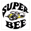 Dodge Super Bee Logo Themed 4x4 Ceramic Coasters Handmade