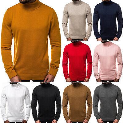 Strickpullover Pullover Langarm Sweatshirt Rollkragen OZONEE B95008 Herren | eBay