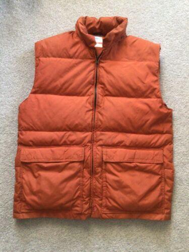 Vintage 70s Frostline Puffer Vest Rust Orange Men'