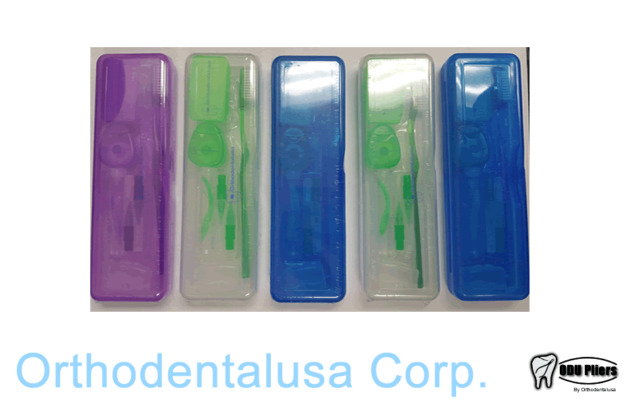 SET X 5  ORTHO CARE KIT ORTHODONTIC KIT ORAL CARE CLEANING Brush and accesories