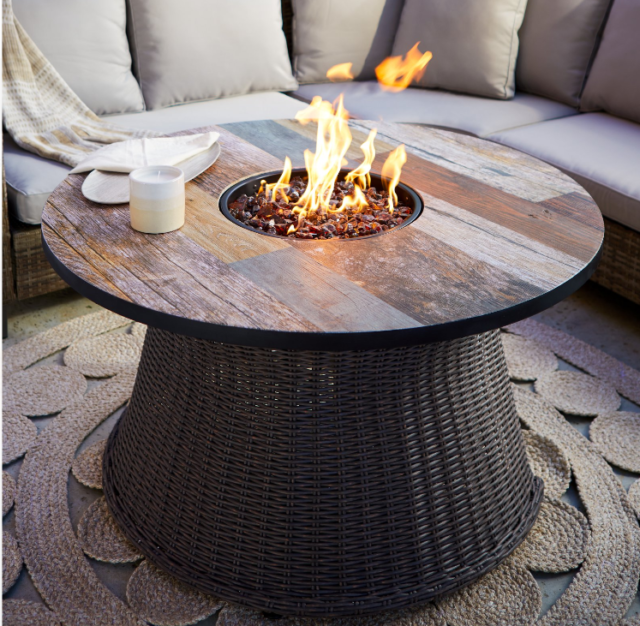 Granville Firepit Table 60 Inches Natural Gas Fire Pit Outdoor