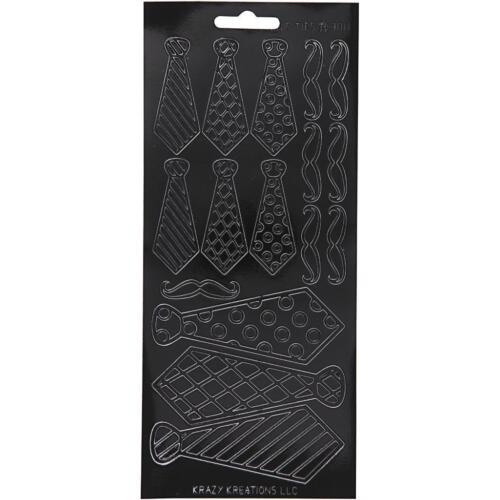 Black Assorted Borders Flowers Designs Self Adhesive Peel Off Stickers Sheet