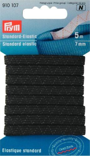 1.02 EUR//Meter PRYM Gummiband SB schwarz Standard Elastic 7mm