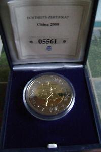 Münzemedaille Fackelläufer China 2008 Olympische Flamme Nach