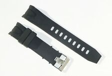 22mm Premium Silicon Rubber Black Band Strap for Omega SeaMaster