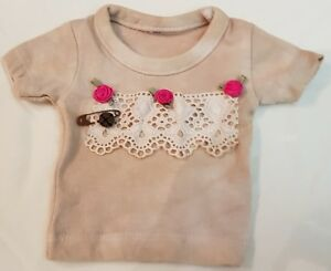 RAR-T-Shirt-IN-Shabby-Style-For-Approx-11-13-13-16in-Bears-Or-Doll