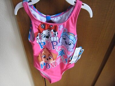 Paw Patrol Girls Swimsuit NWT Size 2 3T Best Pup Pals Pink