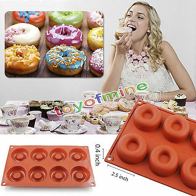 Silicone Donut Muffin Chocolate Cake Candy Cookie Cupcake Baking Mold Mould Pan