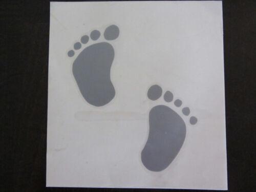 Autoscheiben Aufkleber  Baby Füße