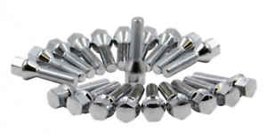 20x 12x1.25 CHROME LARGE SEAT WHEEL LUG BOLTS 28MM SHANK JEEP FIAT 19MM HEX OEM