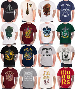 Officiel-Harry-Potter-T-Shirt-Poudlard-Gryffondor-Poufsouffle-cretes-Homme-NEUF