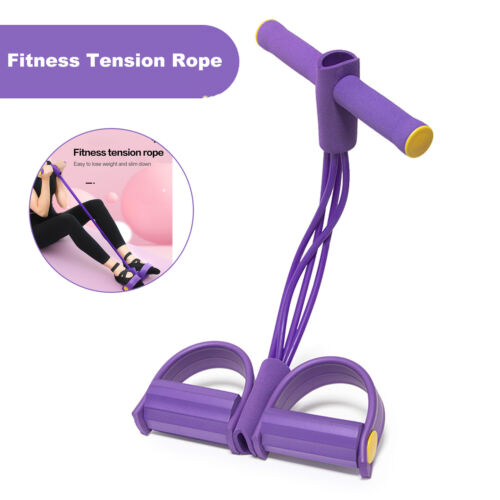 Fitness 4 Tension Ropes Tubes Pedal Exercise Multi-Function Pull Bands Trainer