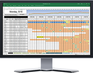 call center agent scheduling tool in excel spreadsheet ss. Black Bedroom Furniture Sets. Home Design Ideas