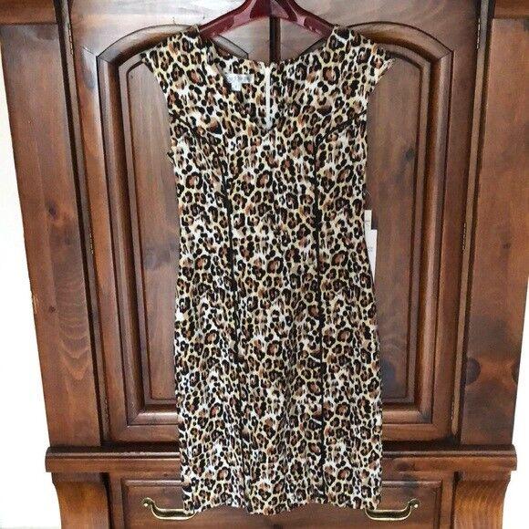 NWT Kay Unger Leopard Dress Retail