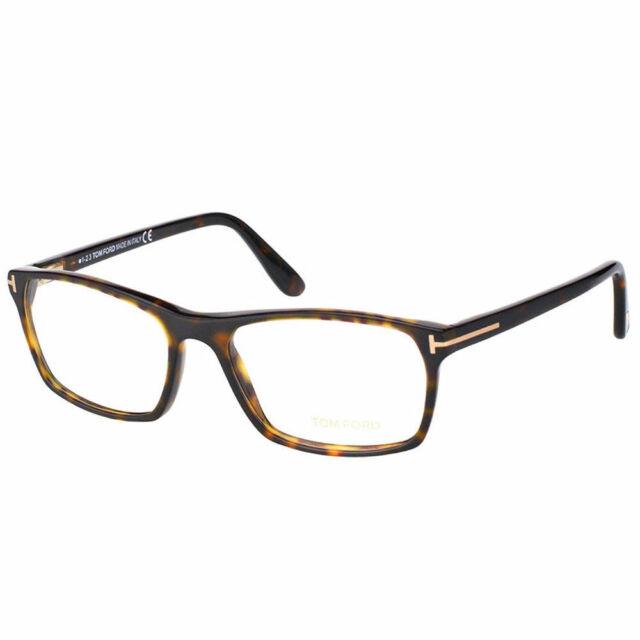 bf5bcdb3ecedc Tom Ford FT 5295 052 Dark Havana Plastic Rectangle Eyeglasses 56mm