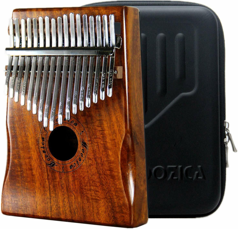 Kalimba 17 Schlüssel + Schwarze Tasche Daumenklavier Daumen Piano Schlüssel Set.