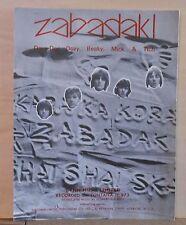 Zabadak! - 1967 sheet music - group Dave Dee, Dozy, Beaky, Mick & Tich photos