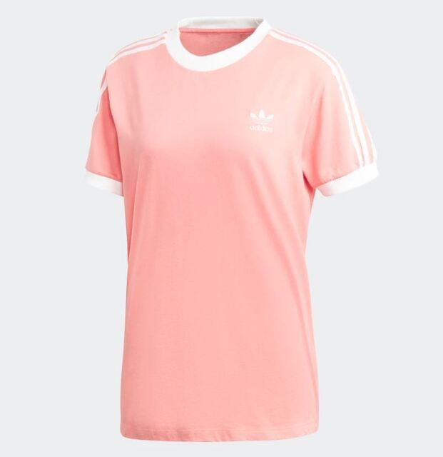 badaad1e adidas Originals Womens T-shirt L Trefoil Tee Three-stripes Rose ...