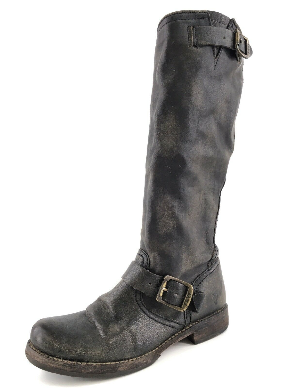 Frye Veronica Slouch Dark Brown Leather Riding Boots Womens Size 6.5 77609 328*