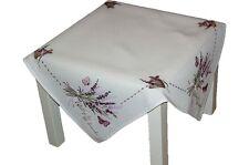 Tischdecke 85x85 cm Weiß LAVENDEL Schmetterling lila Mitteldecke FRÜHLING Sommer