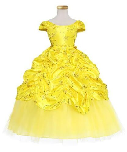 New Girls Pageant Wedding Formal Party Princess Dress 2 4 6 8 10 12 14 16 Yellow