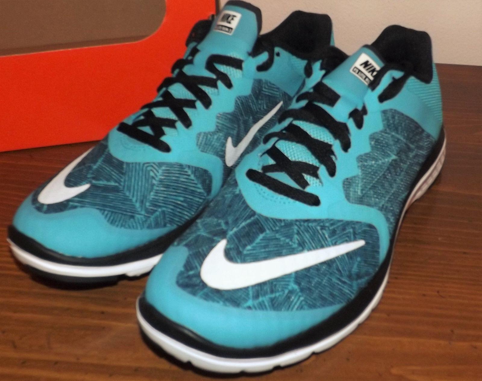 Nike flex fury 2 light blue and scarpe nero donne nuove scarpe and da corsa misura 7,5 6b5803